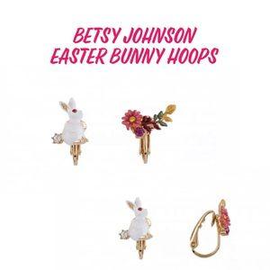Jewelry - Easter Bunny Flower Pearl Earrrings HOOPS